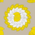 Lustige Zitrone Nahtloses Vektormuster