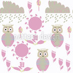 Owl Dream Seamless Pattern
