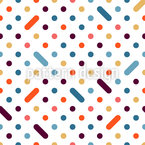 Color Dot Seamless Vector Pattern Design