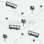 Ich Mache Einen Ausflug Vektor Muster