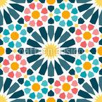 Arabische Kreis-Sternfliesen Nahtloses Vektormuster