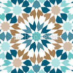 Arabic Snow Tiles Seamless Vector Pattern Design