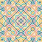Einzel Linie Geometrische Fliese Musterdesign