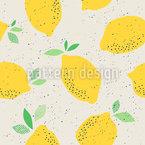 Fallende Zitronen Nahtloses Vektormuster