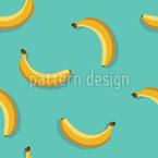 Fallende Bananen Nahtloses Vektormuster