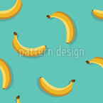 Falling Banana Seamless Vector Pattern Design