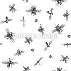 Insektenschwarm Nahtloses Vektormuster