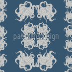 Abstract Octopus Seamless Vector Pattern Design