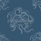 Abstract Cuttlefish Seamless Vector Pattern Design