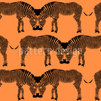 Kissing Zebras Seamless Vector Pattern Design