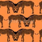 Sich Küssende Zebras Nahtloses Vektormuster