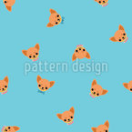 Chihuahua Face Seamless Vector Pattern Design