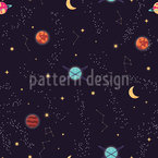 Deep Space Seamless Vector Pattern Design