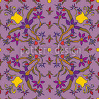 Symmetric Fantasyflowers Vector Pattern