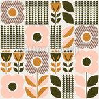 Weiche florale Elemente Nahtloses Vektor Muster