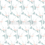 Tulips In Rows Repeating Pattern