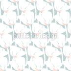 Tulpen In Reihen Rapportiertes Design