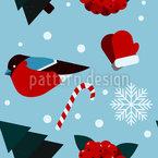 Winterliche Elemente Musterdesign