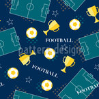 Football Cup Seamless Vector Pattern Design