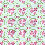 Família Fruta Dragão Design de padrão vetorial sem costura