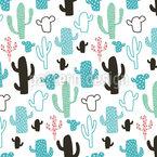 Menthol Kaktus Nahtloses Vektormuster