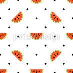 Wassermelonen Polka Dot Rapportiertes Design