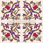 Fantasyflowers Cream Repeating Pattern