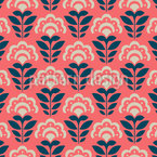 Flower Forest Seamless Vector Pattern Design