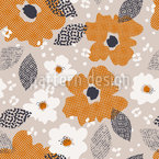 Texture Flowers Seamless Vector Pattern Design