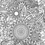Mandala zum Einfärben Nahtloses Vektormuster