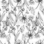 Pluie Fleur délicate Motif Vectoriel Sans Couture