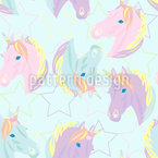 Magical Pastel Unicorn Repeat Pattern