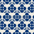 Skandinavische Blumenfliesen Nahtloses Vektormuster