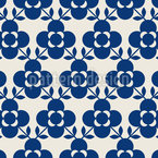 Skandinavische Blumenfliesen Rapportiertes Design