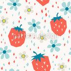 Flowering Strawberry Harvest Pattern Design