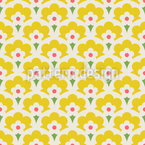 Skandinavisches Blumen Retro Musterdesign