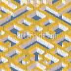 Labirinto Ikat Design de padrão vetorial sem costura