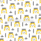 Happy Princess Pattern Design