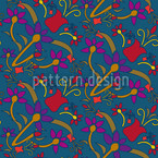 Fantasyflowers Seamless Vector Pattern Design