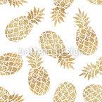 Funkelnde Ananas Nahtloses Muster