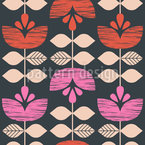 Retro Flower Garlands Seamless Vector Pattern