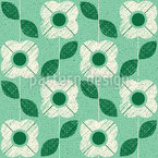レトロな花のチェック シームレスなベクトルパターン設計