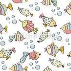 Glückliche Aquariumfische Rapportmuster