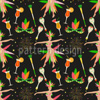 Brazilian Party Seamless Vector Pattern Design