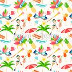 リオビーチ シームレスなベクトルパターン設計
