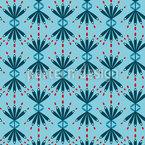 Blütenfächer Nahtloses Muster
