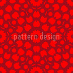 Floral Centre Seamless Vector Pattern