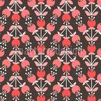 Jarrones Blossom Estampado Vectorial Sin Costura