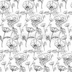 Mohnblumen Pflücken Rapportmuster