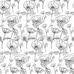 Picking Poppies Repeat Pattern